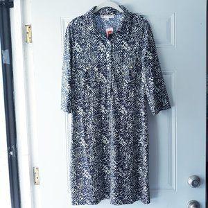 NWT Jude Connally Navy Henley Shift Dress Sz XL